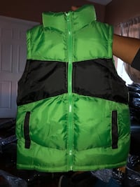 green and black bubble jacket Los Angeles, 90037