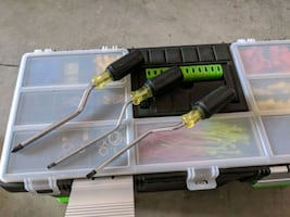 Lot of Electrical Tools with 3 Klien Screw Drivers, Come a long
