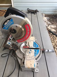 """Delta 10"""" Compound Power Miter Saw USA Made Extra Blade Power Tool Model 36-075. Pre-owned. Working. Knoxville, 21758"""