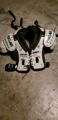 Football Pads for 250+ lb. Young Man