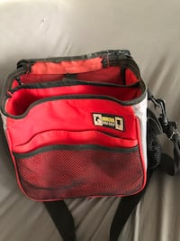 red and black leather backpack Tulsa, 74126
