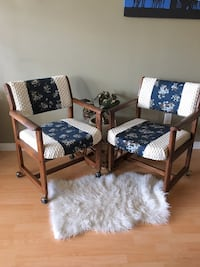 Pair of vintage rolling chairs Vancouver, V5Y 1K2