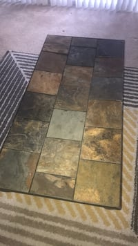 Brown and beige marble tile coffee table Burtonsville, 20866
