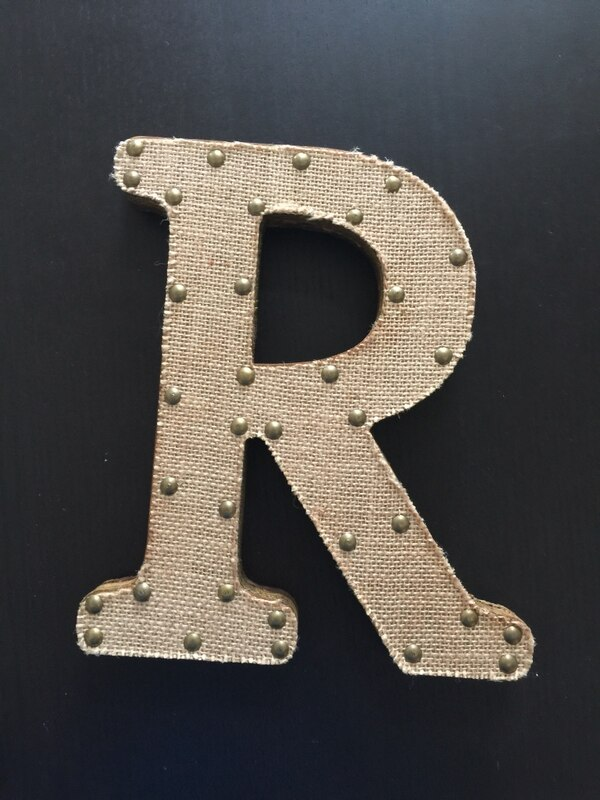 """Rustic """"R"""" can stand or be hung. From Kirkland's"""