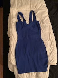 Guess by Marciano Blue bodycon dress in size M