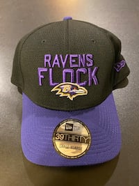 NWT NEW ERA RAVENS FLOCK FLEX HAT L/XL Essex, 21221