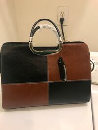 brown and black leather tote bag Austell, 30168