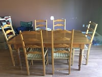 Dining table with 6 chairs solid pine Land O Lakes, 34639