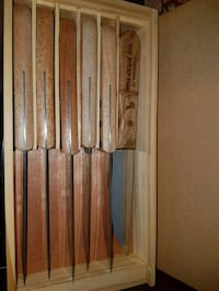 Set of 6 Large Wood Handle Steak Knives Oshawa, L1J 1W4