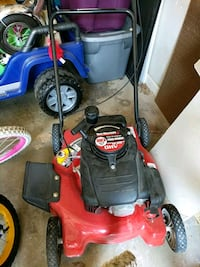 red and black push mower Sterling, 20165