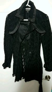 Black lace Bebe trench size small  Edmonton, T6X 0M8