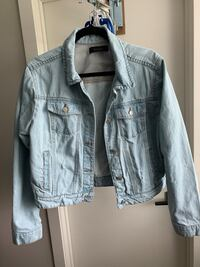 Light Blue Ripped Jean Jacket from Suzy Shier. Richmond, V6Y 3Y8