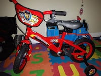 paw patrol bike with training wheels