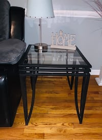 Black with glass tops end tables and matching coffee table  Woodbridge, 22192