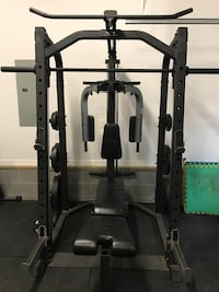 Rack / smith machine with leg extension piece as well. Norfolk, 23507
