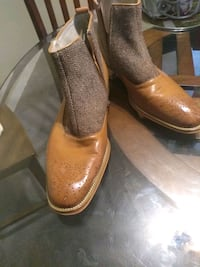 Men size 10 handmade leather GIOVANNI boots$40obo