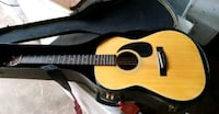 brown acoustic guitar with case Circle Pines, 55014