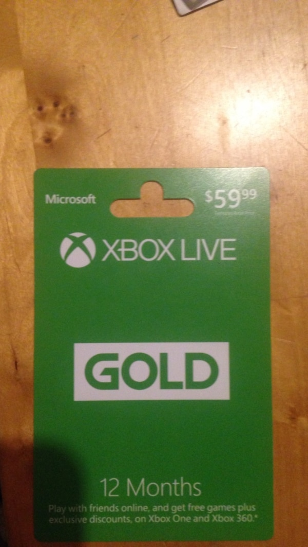 59 99 dollars Xbox Live Gold gift card