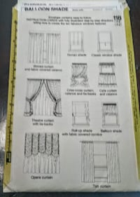 Simplicity House 10 WIndows Sewing Pattern Easy to Follow Instruction Cards