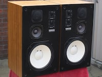 Pair of Yamaha NS-344 Speakers  3-Way Studio Monitors.  Speaker components in absolutely mint condition.  Boxes and grills in very good condition.  The sound is exceptional - big range, deep bass, strong mid and crystal clear highs.  These were part of th Toronto, M5P 2V5