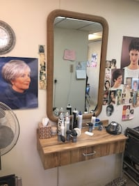 Salon stylist station with mirror. We have 3 matching sets looking for $100 per ser Cranston, 02920