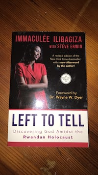 Left to Tell  by Immaculee Ilibagiza with Steve Erwin South Amboy, 08879