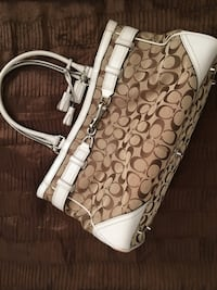 Brown monogrammed coach leather hobo bag Fountain Valley, 92708