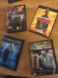 Four assorted dvd movie cases Saint-Lambert, J4R 1R7