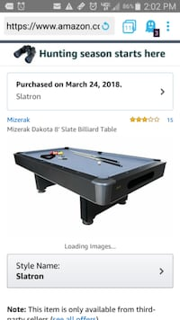 POOL TABLE NEW IN BOX West Fargo