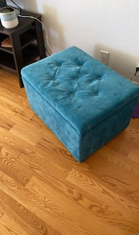 Storage bench. Teal. 2 ft length x 1.5 length x 1.5 height
