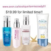 Anew face creams with spf25-50 Edmonton, T6L 6M7