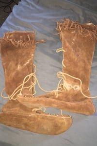Leather Moccasin Boots.  11-12 Nampa