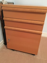IKEA file cabinet with three drawers, casters and will include hanging file holders Markham, L3R 6M6
