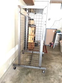 Industrial Metal Clothing Clothes Double Storage Rack shelve Wheels Gaithersburg, 20878