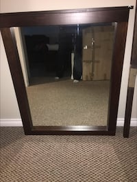 rectangular black wooden framed mirror Saanich, V8Y 1X8