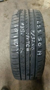 255/50 R 19 Sumitomo 1 for $35 7/32nd 1patch  602 mi