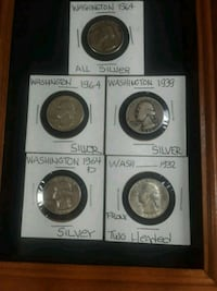 four round silver coins in boxes North Kingstown, 02852