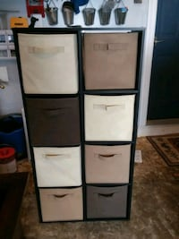Closet maid shelves with fabric bins Falls Church, 22042