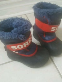 pair of black-and-red snow boots Brampton, L6S 6H5