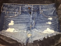 blue denim distressed short shorts Pleasant Hill, 50327