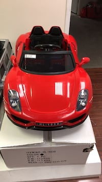 red sports car ride-on toy