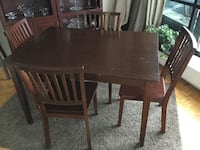 rectangular brown wooden table with four chairs dining set Montréal, H3E 1E6