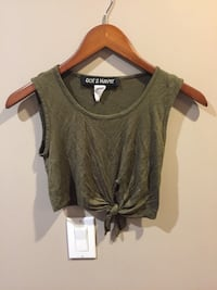 Green short top size small