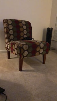 brown wooden framed red padded chair Alexandria, 22311