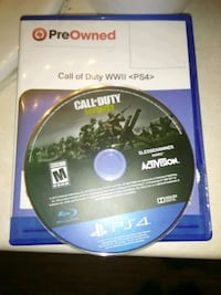 Sony PS4 Call of Duty ww2 game disc