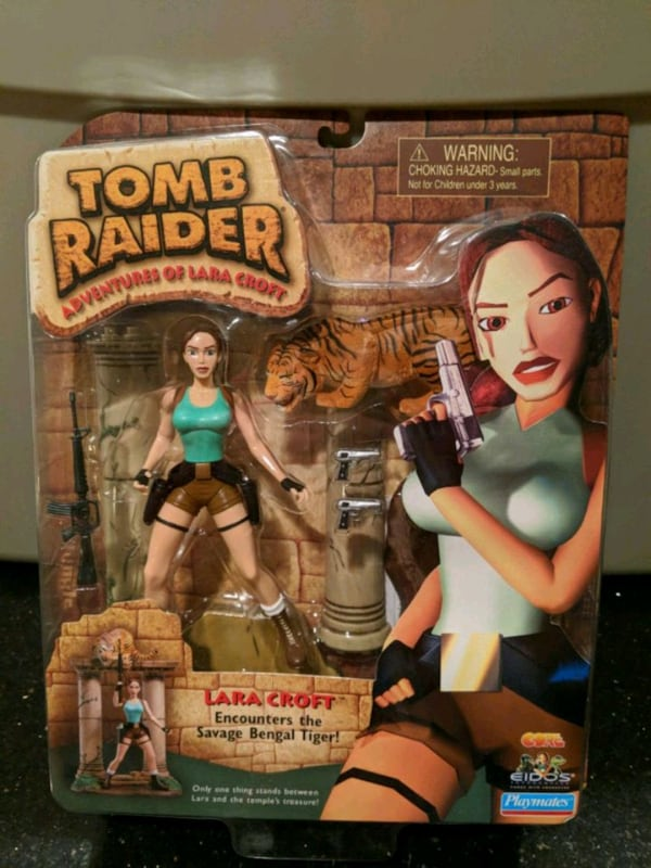 Used Tomb Raider Lara Croft 1999 Playmates Action Figure For Sale