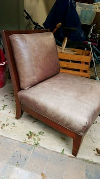 Leather, wood chair Charlotte, 28226