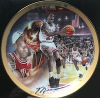 """1992 Upper Deck The Michael Jordan Collection """"1991 Championship"""" Collector's Plate Belvidere, 61008"""