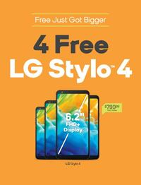 4 Free LG Stylo 4 When Switch to Boost Mobile Lincoln