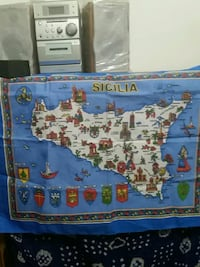 Large Sicily Map Cloth